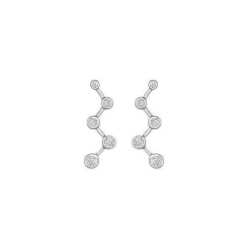 Diamond Journey Earrings : 14K White Gold - 0.50 CT Diamonds