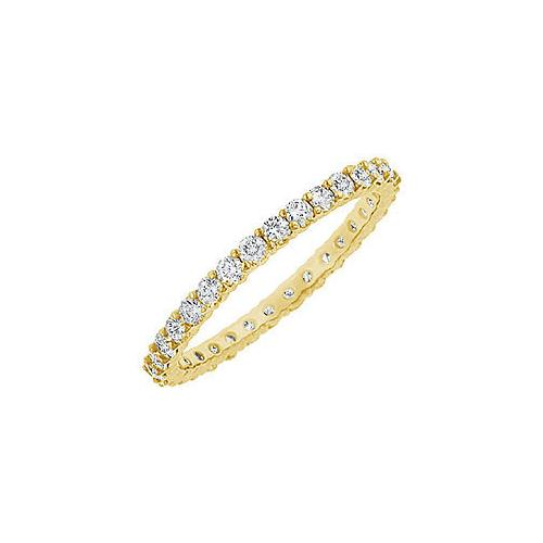 Diamond Eternity Bangle : 14K Yellow Gold 10.00 CT Diamonds