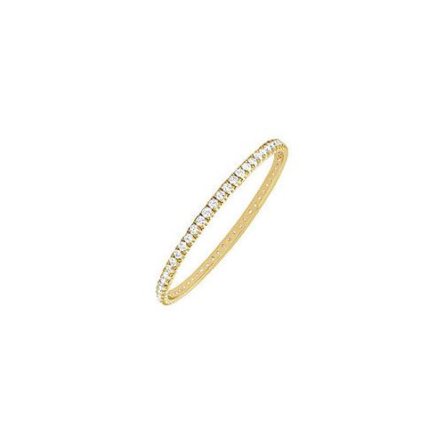 Diamond Eternity Bangle : 14K Yellow Gold 2.00 CT Diamonds