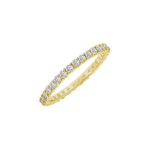 Diamond Eternity Bangle : 18K Yellow Gold - 10.00 CT Diamonds