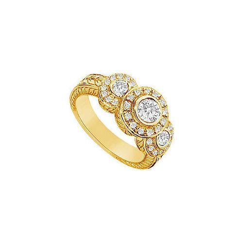 Diamond Ring : 14K Yellow Gold - 0.75 CT Diamonds