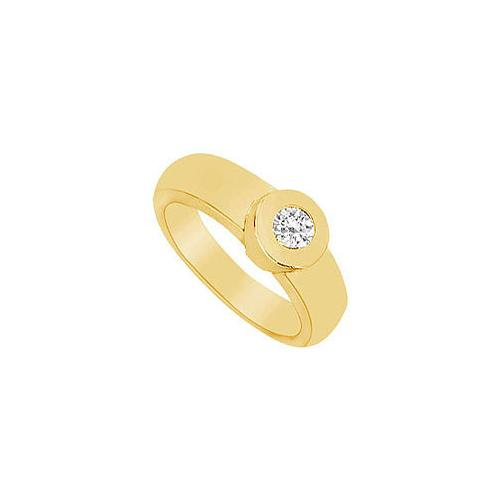 Diamond Ring : 14K Yellow Gold - 0.25 CT Diamonds