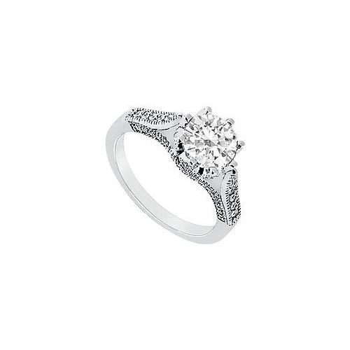 Diamond Engagement Ring : Platinum - 1.00 CT Diamonds