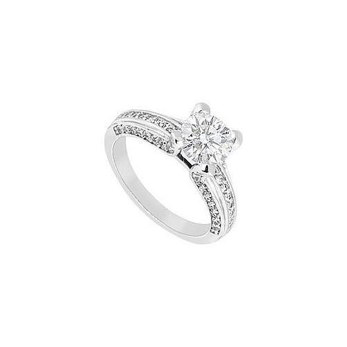 Diamond Engagement Ring : 14K White Gold – 2.00 CT Diamonds