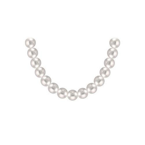 Akoya Cultured Pearl Necklace : 14K White Gold – 11 MM