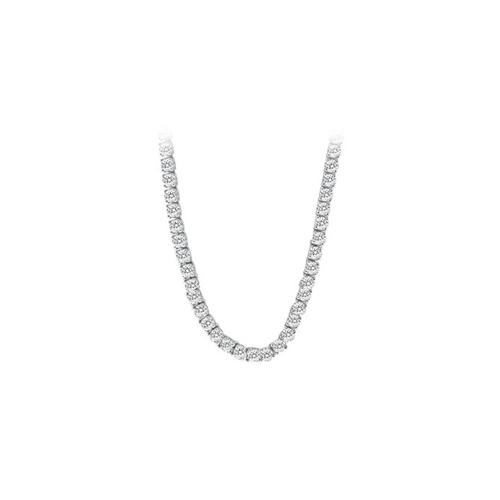 14K White Gold Diamond Eternity Necklace 16.00 CT TDW