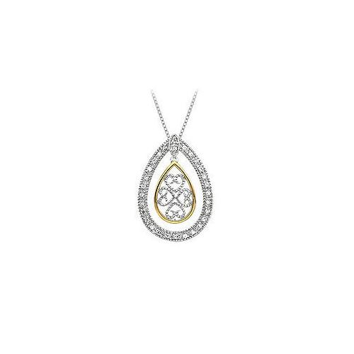 Tears of Joy Pendant : .925 Sterling Silver - 0.30 CT  TGW