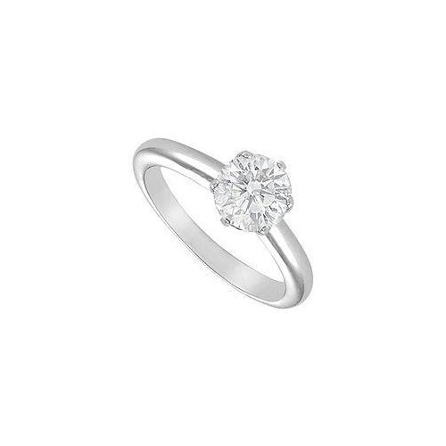 Diamond Solitaire Ring : 14K White Gold - 1.75 CT Diamond