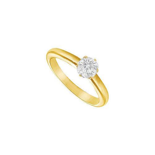 Diamond Solitaire Ring : 18K Yellow Gold – 0.50 CT Diamond