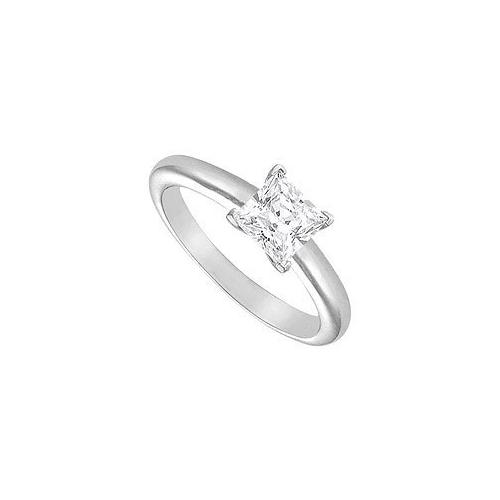 Diamond Solitaire Ring : 18K White Gold – 1.25 CT Diamond