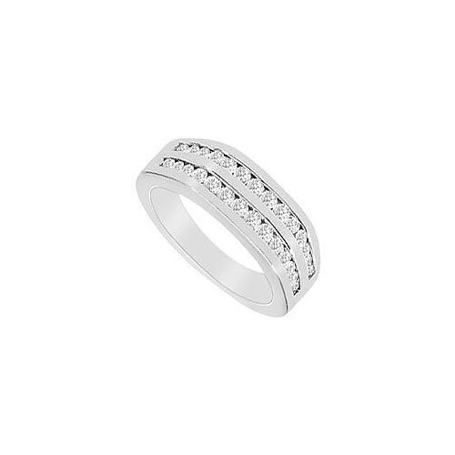 Diamond Wedding Band : 14K White Gold - 0.50 CT Diamonds