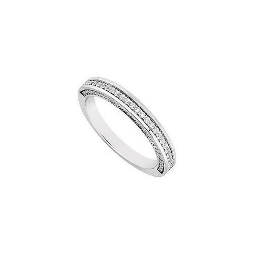 Diamond Wedding Band : 14K White Gold 0.30 CT Diamonds