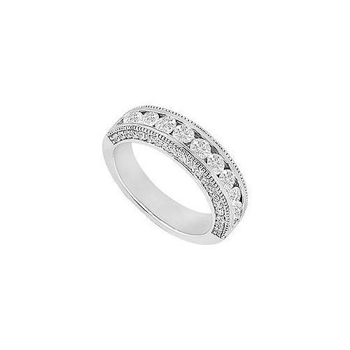 Diamond Wedding Band : 14K White Gold - 1.00 CT Diamonds