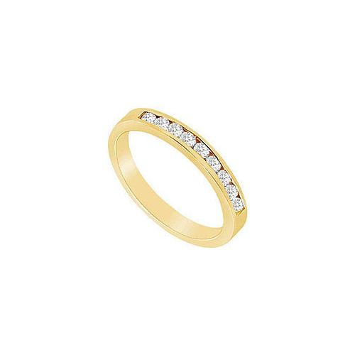 Diamond Wedding Band : 14K Yellow Gold - 0.50 CT Diamonds