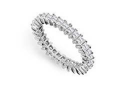 Diamond Eternity Band : 14K White Gold - 2.50 CT Diamonds