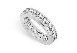 Diamond Eternity Band : 14K White Gold - 3.00 CT Diamonds
