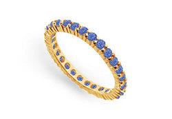 Blue Sapphire Eternity Band : 14K Yellow Gold – 1.00 CT TGW