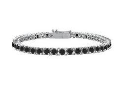 Black Diamond Prong-Set Tennis Bracelet : 14K White Gold – 3.00 CT Diamonds