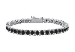 Black Diamond Prong-Set Tennis Bracelet : 14K White Gold – 7.00 CT Diamonds