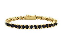 Black Diamond Prong-Set Tennis Bracelet : 14K Yellow Gold – 5.00 CT Diamonds