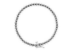 Black Diamond Bracelet : 14K White Gold - 2.00 CT Diamonds