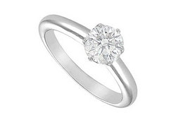 Diamond Solitaire Ring : 14K White Gold - 1.25 CT Diamond