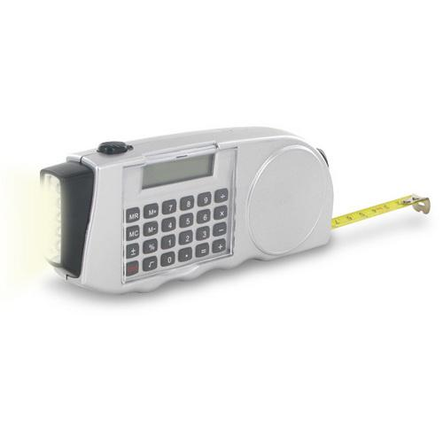 Multi Function Calculator with Measuring Tape & LED Flashlight