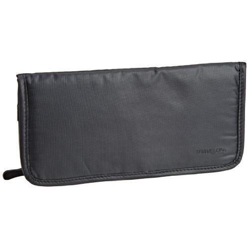 Travelon Safe ID Hack-Proof Ladies Wallet with RFID Blocking, Dark Gray