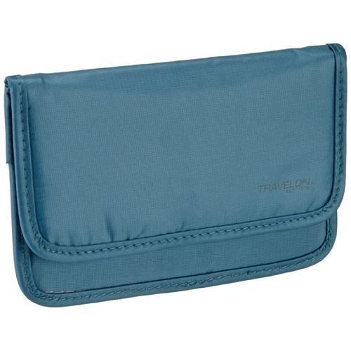 Travelon Safe ID Hack-Proof Medium Wallet with RFID Blocking, Teal