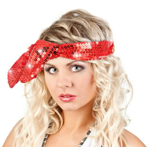 Calypso Studios Glitz Bendi Sequin Wire Headband, Red