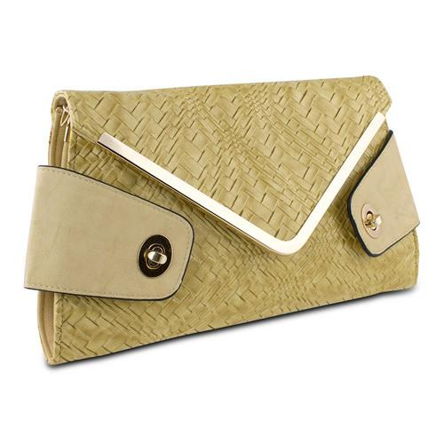 Mad Style Owl Envelope Clutch, Beige