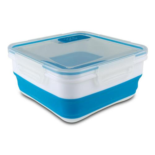 Cool Gear Expandable 6.25 Cups Food Storage Container (Blue/White)