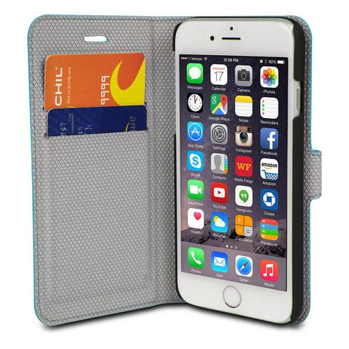 Chil Attraction Jacket Magnetic Wallet & Case for iPhone 6 Plus (Teal)