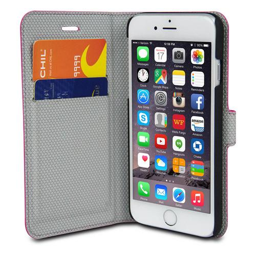 Chil Attraction Jacket Magnetic Wallet & Case for iPhone 6 Plus (Pink)