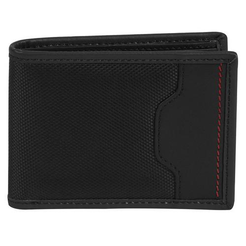 Travelon SafeID Hack-Proof Accent Deluxe Billfold Wallet w/ RFID Blocking, Black