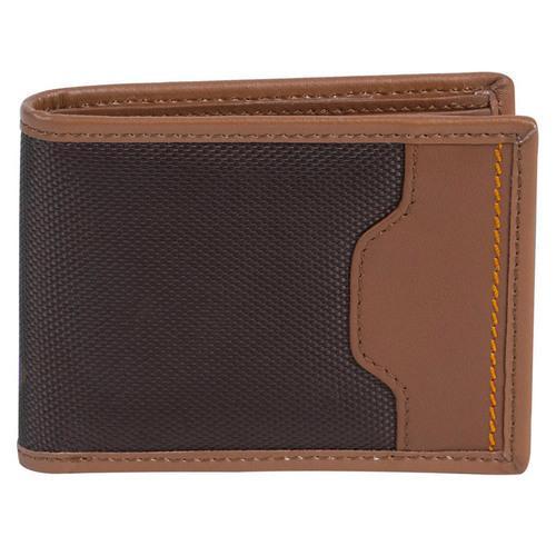 Travelon SafeID Hack-Proof Accent Deluxe Billfold Wallet w/ RFID Blocking, Brown