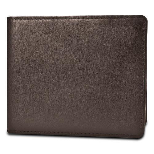 Travelon SafeID Hack-Proof RFID Blocking Leather Billfold, Brown