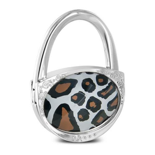 Pursfection Design Folding Handbag Purse Hook Hanger, Giraffe