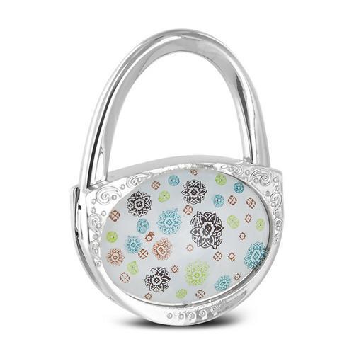 Pursfection Design Folding Handbag Purse Hook Hanger, Pinwheel