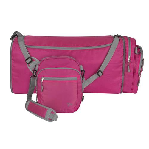 Travelon Convertible 2-in-1 Crossbody Duffel, Berry