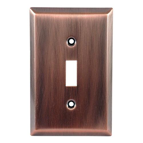 GE 57331 Single Switch Wall Plate, Copper Finish