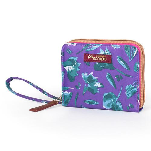 "Po Campo Bill Fold Women""s Wallet, Purple Petals"