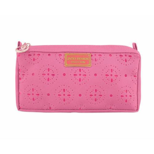 Jacki Design Cosmopolitan Compact Cosmetic Bag, Coral
