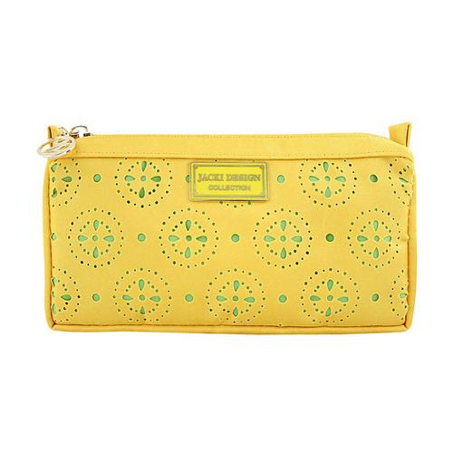 Jacki Design Cosmopolitan Compact Cosmetic Bag, Yellow
