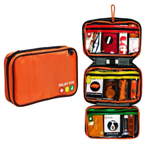Relief Pod Traveler Pro Plus Safety Kit N95 Mask 62 PC Orange