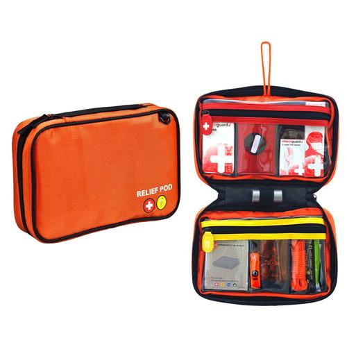 Relief Pod Home Safety Kit w/ 32 Items - Orange