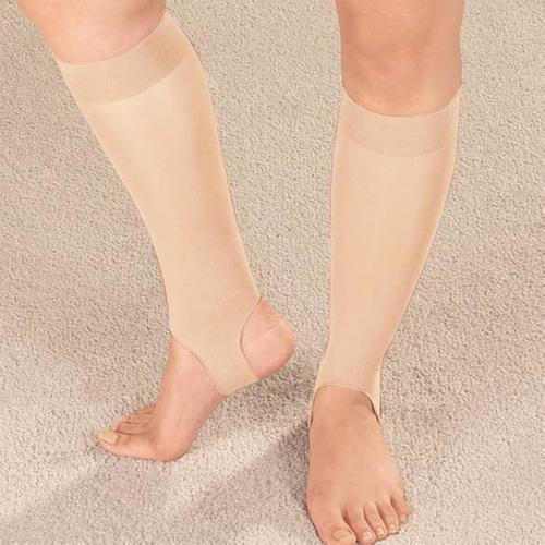 Drive Medical Ultra Thin Stirrup Compression Stockings, Off White (Small)