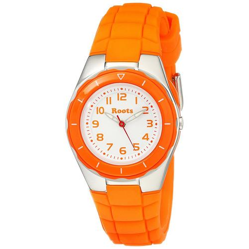 "Roots Women""s Saturna Analog Sports Watch, Orange"
