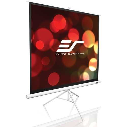 Elite Screens T113NWS1 Tripod Portable Up 113 Projection Screen, Like New