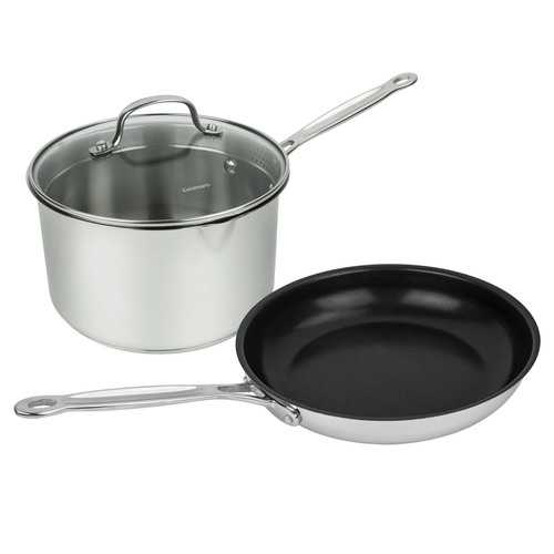 "Cuisinart 7721-10N3P 3-Piece Chef""s Classic Stainless Cookware Set"